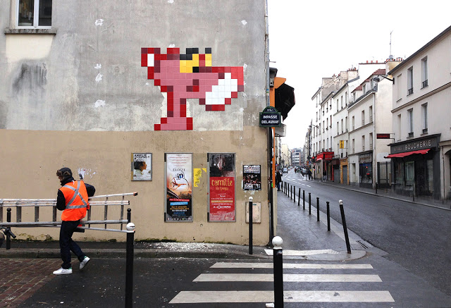 Pink Panther - From Street Art News